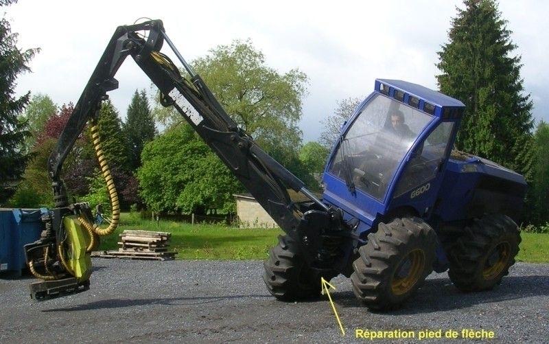 Réparation de machines forestières